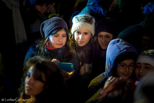 Aprinderea beculetelor de Craciun - Bucuresti 2014