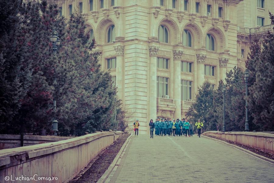 Flacara olimpica a strabatul Bucurestiul