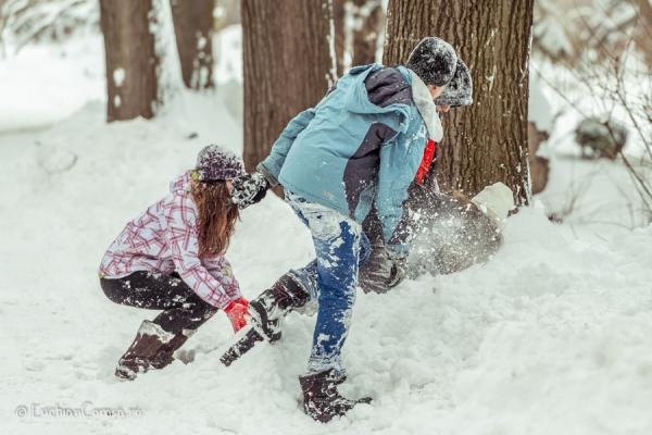 Iarna pe ulita... prin Bucuresti