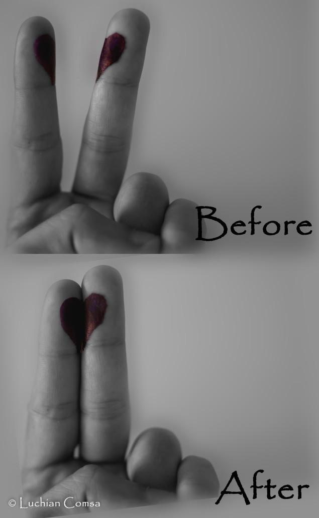 Spatiul dintre degetele mele…