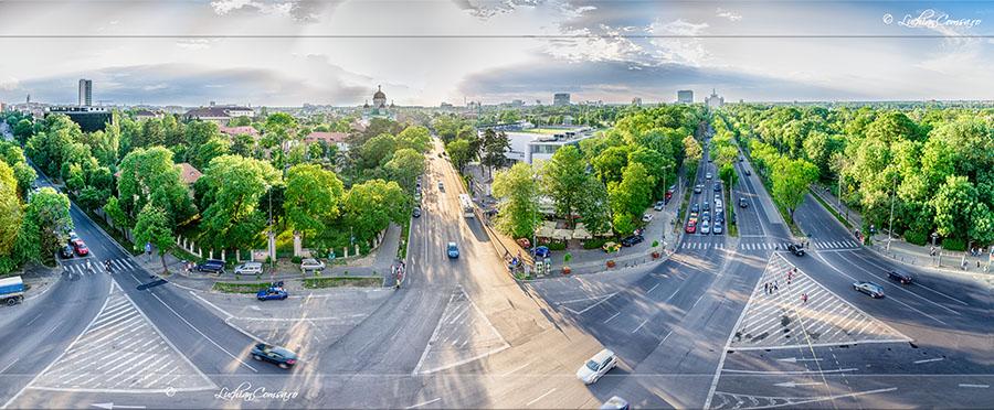 Panorama de pe Arcul de Triumf – Bucuresti