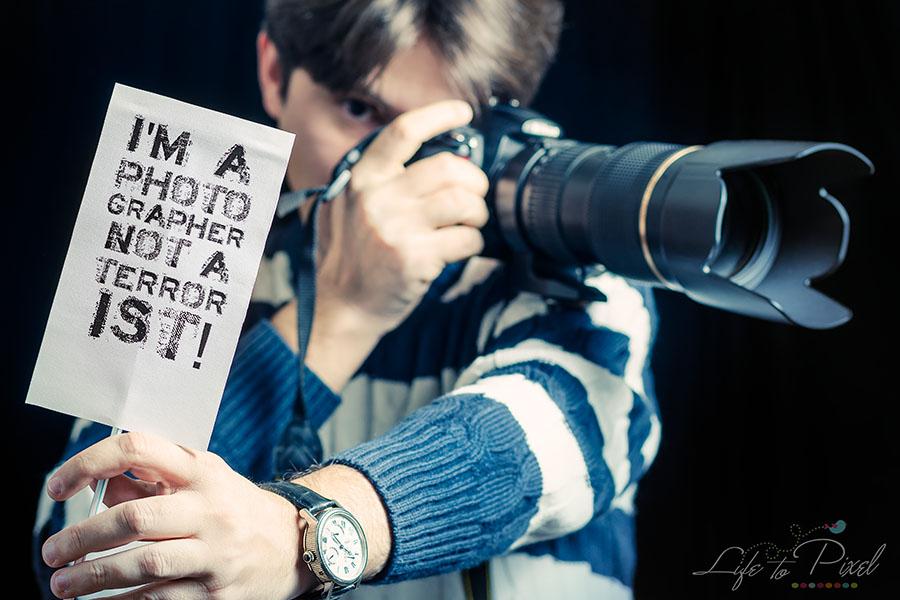 Sunt doar un fotograf, nu un terorist!