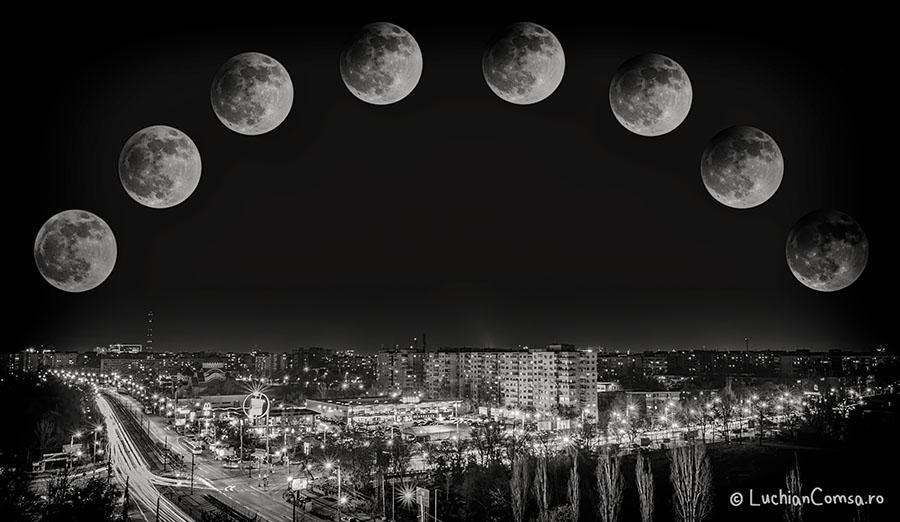 Eclipsa partiala de luna! (O alta perspectiva)