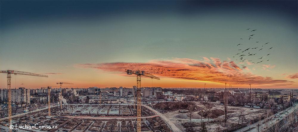 Rasarit peste Dr-Taberei – Panorama [13.01.2014]