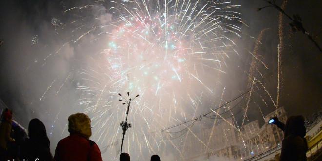 Artificiile din Piata Constitutiei, Bucuresti 2015 (VIDEO)