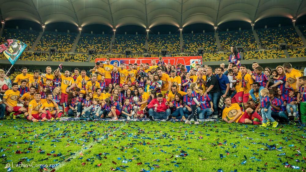 Steaua Bucuresti – Otelul Galati 2-2 & Sarbatorirea cuceririi titlului cu numarul 25